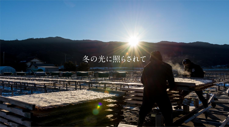 冬の光に照らされて